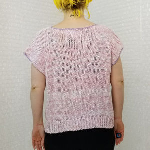 Vintage Tops - Vintage 1980s SML Sport pastel knit sleeveless top